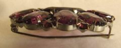 Photo 2 for Amethyst Glass Art Deco Brooch