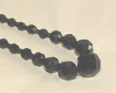 Photo 1 for Art Deco Black Glass Necklace