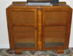 Photo for Art Deco Bow Fronted Display Cabinet