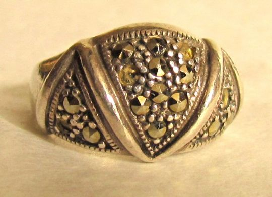 Main photo for Art Deco Silver & Marcasite Ring