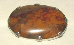 Photo for Banded Agate and Silver Brooch