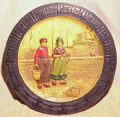 Photo 1 for Bretby Art Pottery  'Zuyder Zee' wall plaque
