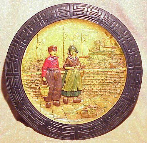 Main photo for Bretby Art Pottery  'Zuyder Zee' wall plaque