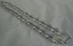 Photo 1 for Clear Glass 1920's / 30's Necklace