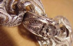 Photo 5 for Filigre silver brooch
