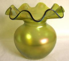 Photo 1 for Loetz Style Art Nouveau Bohemian Iridescent Vase
