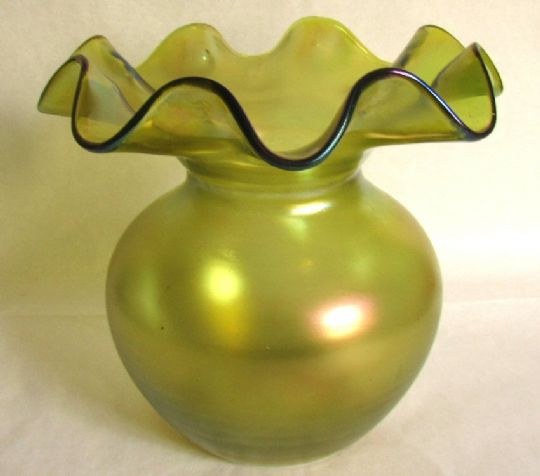 Main photo for Loetz Style Art Nouveau Bohemian Iridescent Vase