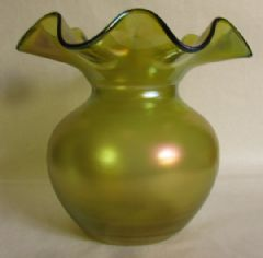 Photo 2 for Loetz Style Art Nouveau Bohemian Iridescent Vase