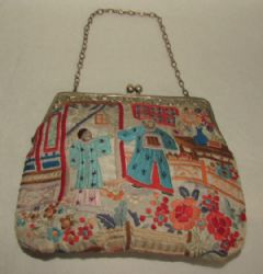 Photo for Silk Embroidered Chinoiserie Evening Bag