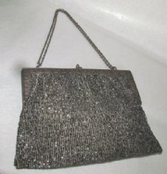 Photo for GREY BEADED EVENING BAG EMBROIDERED