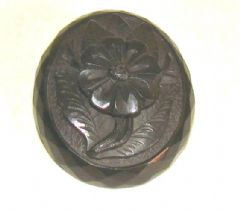 Photo for Victorian Carved Jet Flower Brooch