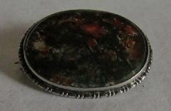 Photo 3 for Victorian Moss Agate & Silver Brooch